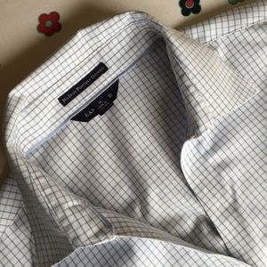Women's windowpane checked blouse